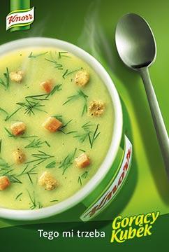 Zdjęcie reklamowe Knorr Gorący Kubek ogórkowa