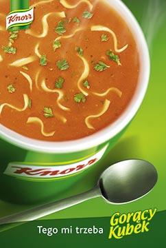 Zdjęcie reklamowe Knorr Gorący Kubek pomidorowa