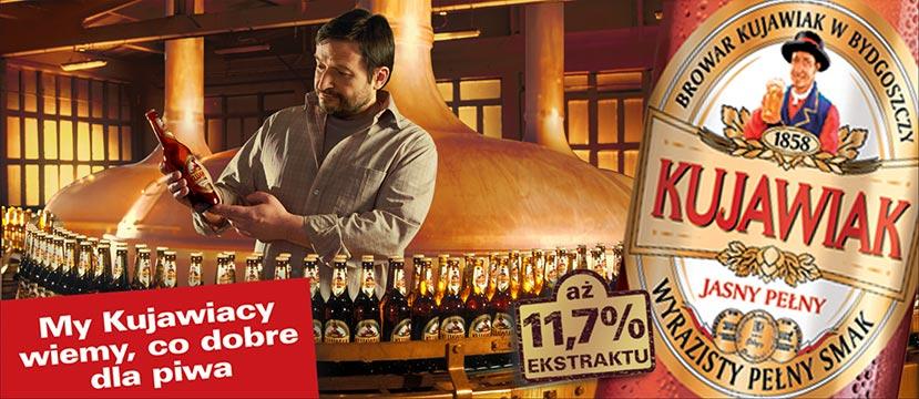 zdjęcie reklamowe piwa Kujawiak