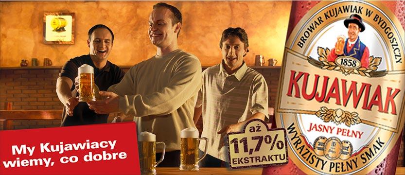 zdjęcie reklamowe piwa Kujawiak Knajpa