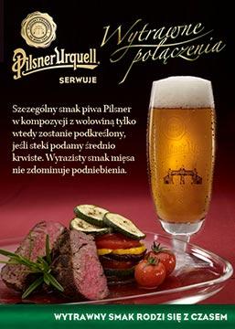 zdjęcie reklamowe piwa Pilsner Urquell_wolowina